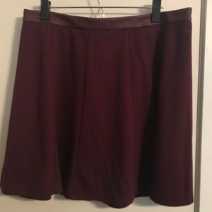 The Limited Maroon Skirt. Size 14.